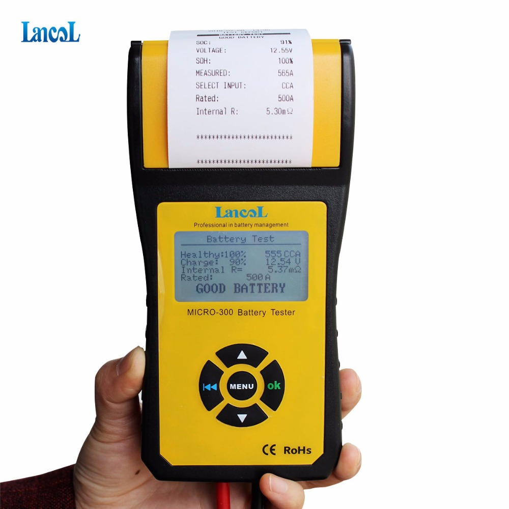 LANCOL MICRO-300 Digital Car Battery Tester with Printer 12V Auto Battery Diagnostic Tool Professional battery testing