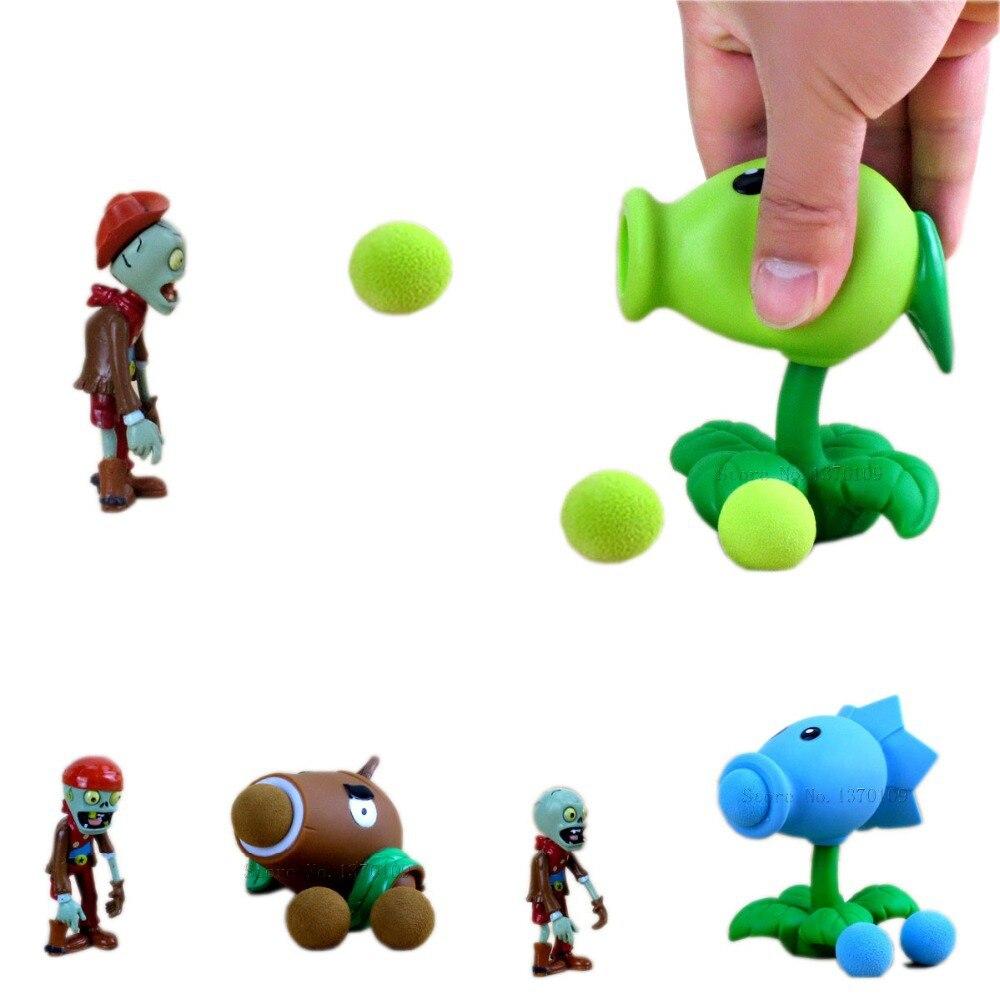 Zombies PVZ Pea Shooter Zombie SnowPea Action Figure Game Kids Toys Plants Vs