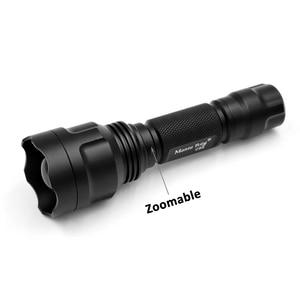 Image 2 - Jagd Taschenlampe Infrarot IR 850nm 940nm Zoomalbe Nachtsicht LED Taschenlampe + 18650 ladegerät Umfang fernschalter