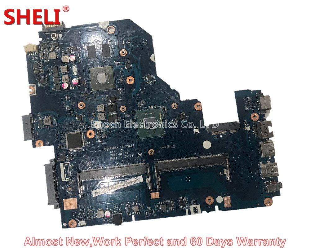 все цены на SHELI For Acer Aspire E5-511 E5-511G Series Laptop Motherboard NBMQW11004 NB.MQW11.004 A5WAM LA-B981P N3540 Work Perfect онлайн
