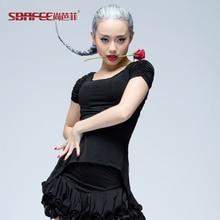 Latin dance new clothes Modern short sleeve leopard shirt