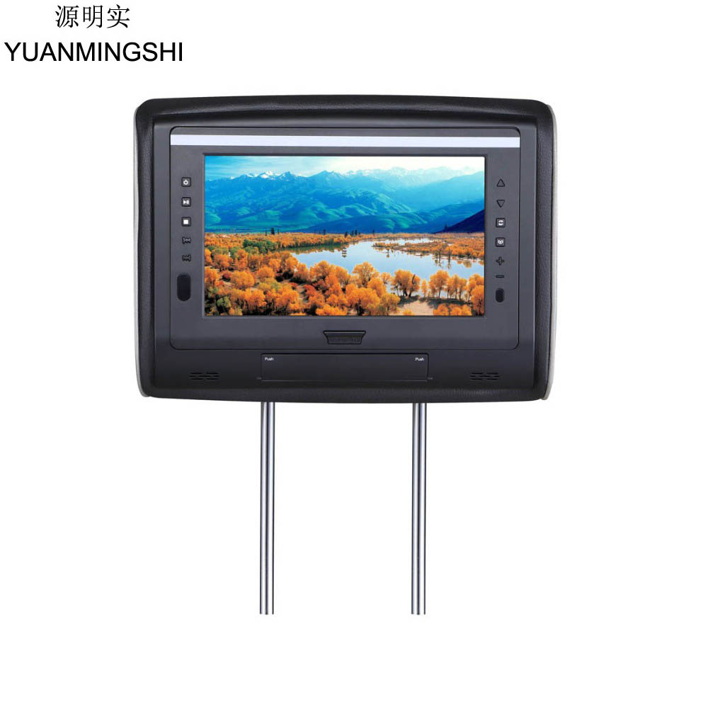 YUANMINGSHI 7 Car Headrest DVD Player with HDMI 1024 x 600 TFT LCD Screen Backseat Monitor USB SD FM Speaker Car Video Player