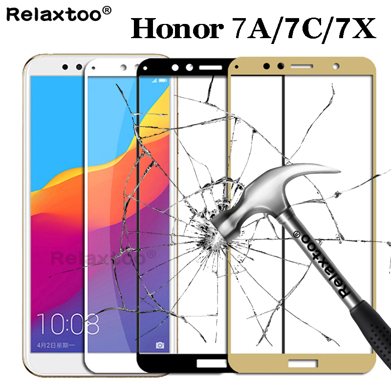 Tempered Glass On The For Huawei Honor 7A Pro 7X 7C Hono Honor7a Honor7c A7 C7 X7 7 A C X Glass Screen Protector Protective Film