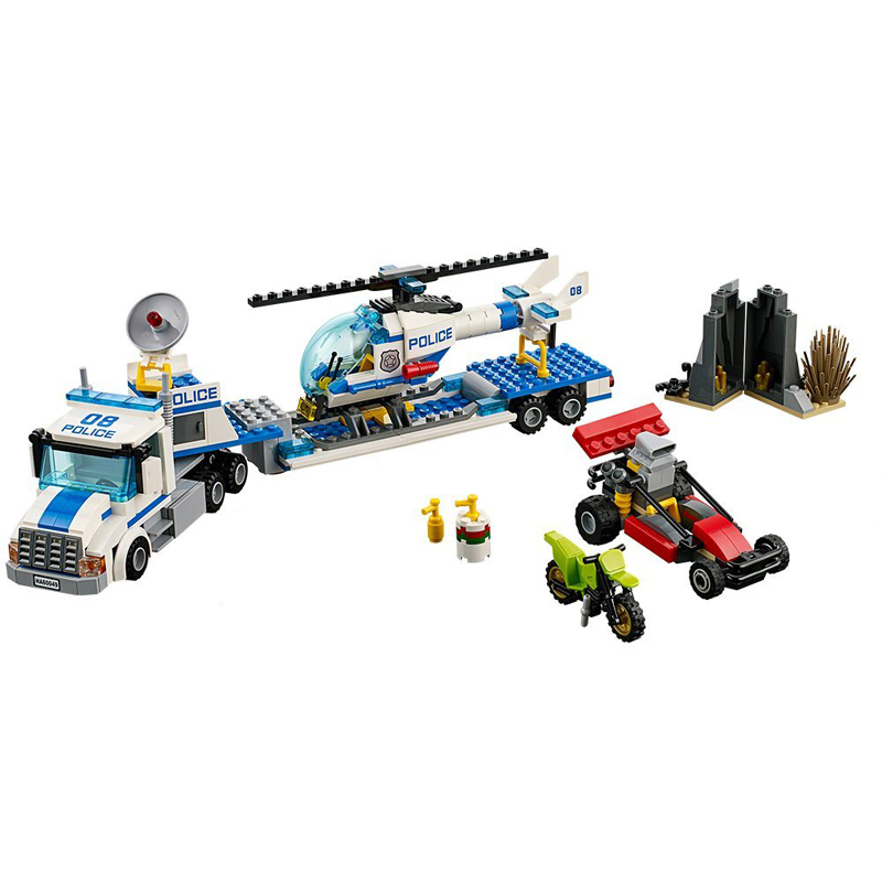 где купить 60049 City Series Police Force Helicopter Urban Transport Fleet Truck Building Block Toys For Children Gift 10422 Legoings по лучшей цене