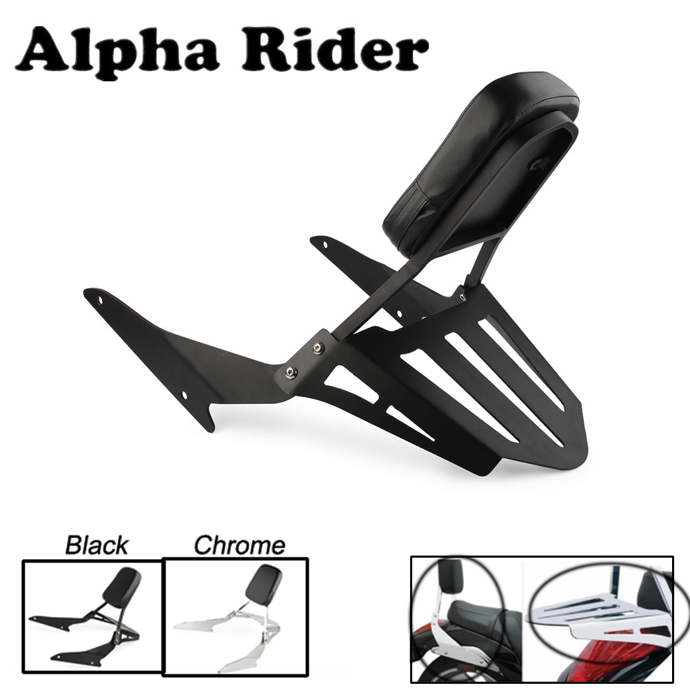 Motorcycle Detachable Sissy Bar Backrest Set Rear Seat Black Chrome For Suzuki Boulevard M109R 2006 - 2015 / M109R2 2008 2009