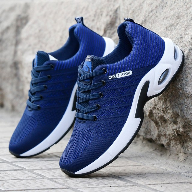 Fashion 2019 Men Casual Shoes Summer Outdoor Breathable Work Shoes Men Sneakers Mesh Shoes Air Cushion Male Non-slip Adult Shoes 2