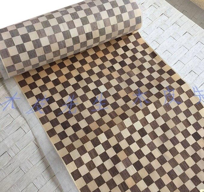 L 2 5Meters Width 40cm Thickness 0 25mm Checkerboard Parquet Wood Veneer Furniture Decorative Veneer