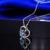 DOUBLE-R Roxo Ametista Pingente de Coração Mulheres Topázio Azul 925 Prata Colares Fine Jewelry Bijutaria jóias coração CAP02423A