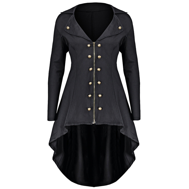 98f8906d94ddc Gamiss Autumn Winter Jacket Women Double Breast Plus Size 5XL 4XL High Low  Coat Lapel Long Zip Up Coat Solid Womens Outwear-in Basic Jackets from  Women s ...