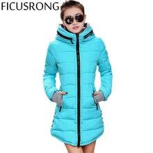 Women's Jacket Winter 2016 New Medium-Long Down Cotton Parka Plus Size Coat Slim Ladies Casual Clothing Hot Sale TFR2