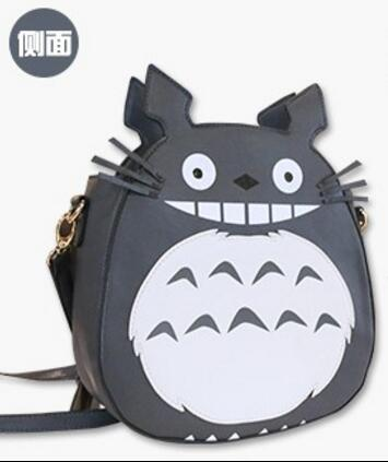 ФОТО Kawaii Girls' Cartoon Shoulder Bag Crossbody Bag Anime Totoro Product Grey White