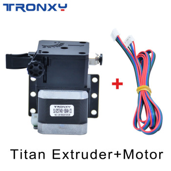Tronxy 1set Titan Extruder Upgrade Kit For 1.75mm Feeder 3D Printer Parts High Quality Stepper Motor With Free Electric Line 3d printer accessory ultimaker wire feeder kit set with stepper motor top quality free shipping