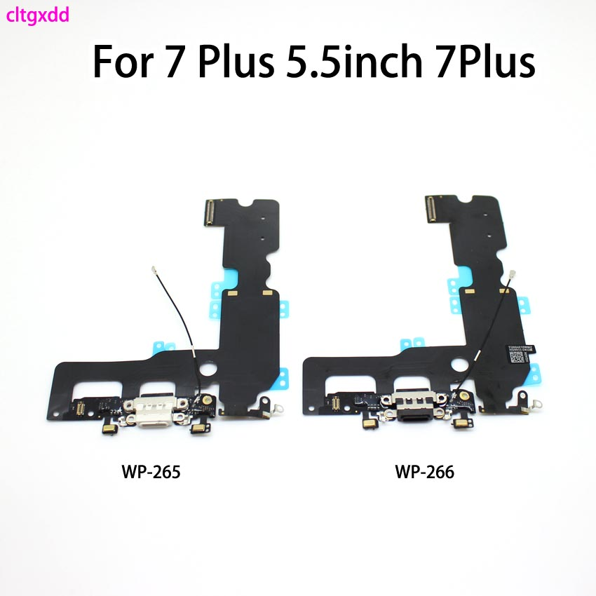 cltgxdd USB Charging Port Connector Charge Dock Socket Jack Plug Flex Cable With Microphone For iphone 7 Plus 5.5inch 7Plus|Connectors| |  - AliExpress