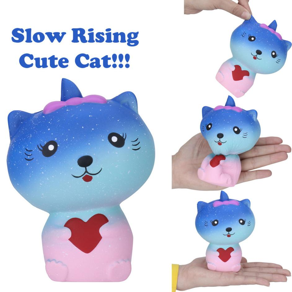 1PC New Cute Soft Cat Slow Rising Collection Squeeze Stress Reliever Toy Interesting Comfortable Toys Kids Gift