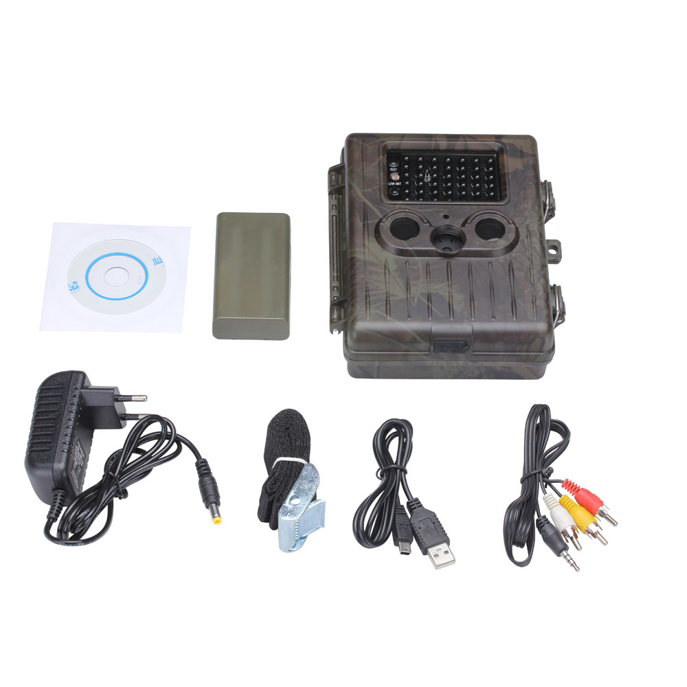 HT 002LI 12MP Rain proof Rechargeable Wildlife Hunting font b Camera b font HD Digital Infrared