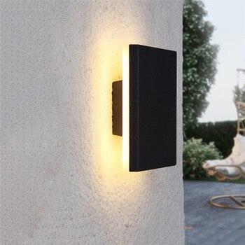 Außerhalb Wand Licht Wasserdichte Wand Lampe Veranda Garten Gang Korridor Wand Beleuchtung Leuchte Aluminium Wand Lichter BL57