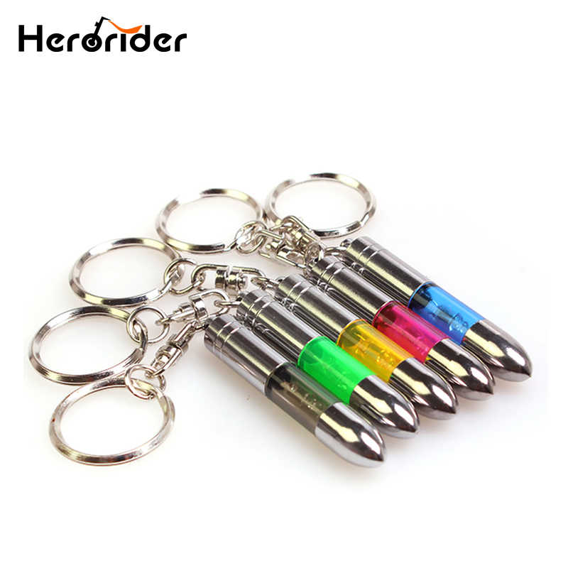 Fashion Anti-static Keychain Key Ring Built-in LED Emitter Car Interior Accessories Car Key Chain
