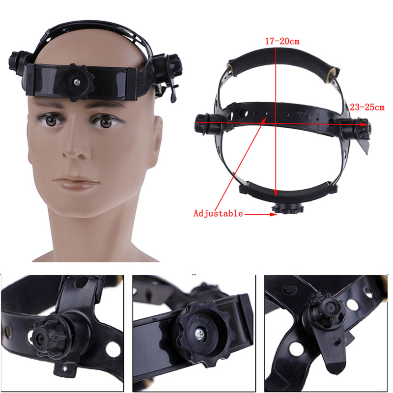 Hot! 1PC New Adjustable Welding Welder Mask Headband Solar Auto Dark Helmet Accessories