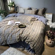 Краткое геометрические постельные принадлежности для взрослых подростков человек мальчик, Полный queen king хлопок двойной домашний текс