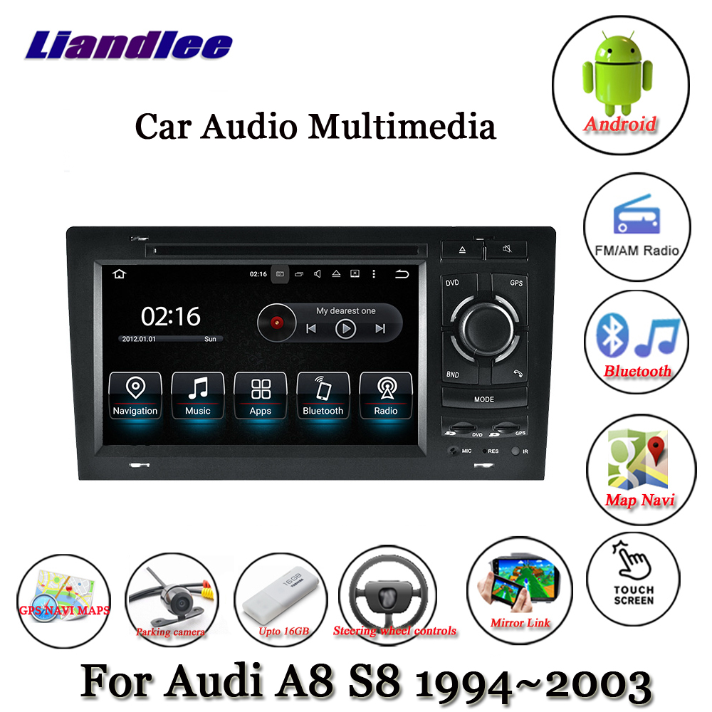 Excellent Liandlee Car Android 7.1 up For Audi A8 S8 D2 4D 1994~2003 Radio DVD TV Carplay Camera GPS Navi Navigation BT Screen Multimedia 1