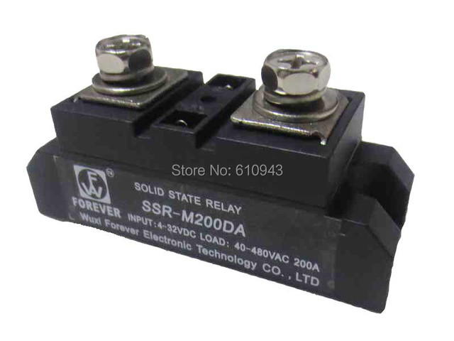 SSR 200A 48 480VAC 4 32VDC Free shipping industry class Solid State