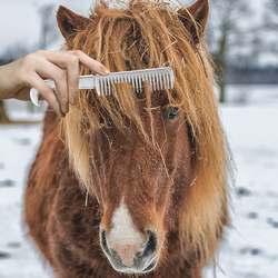 Алюминиевый сплав гребень для лошади инструмент оборудование для ухода за лошадью продукты грива хвост потянув гребень уход за лошадью