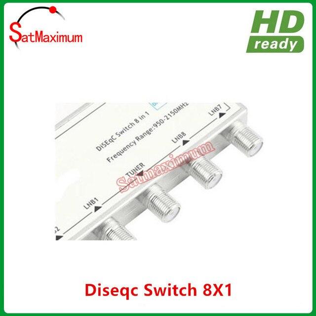 DiSEqC Satellite Signal Dish LNB Combiner 8 Way Switch To 1