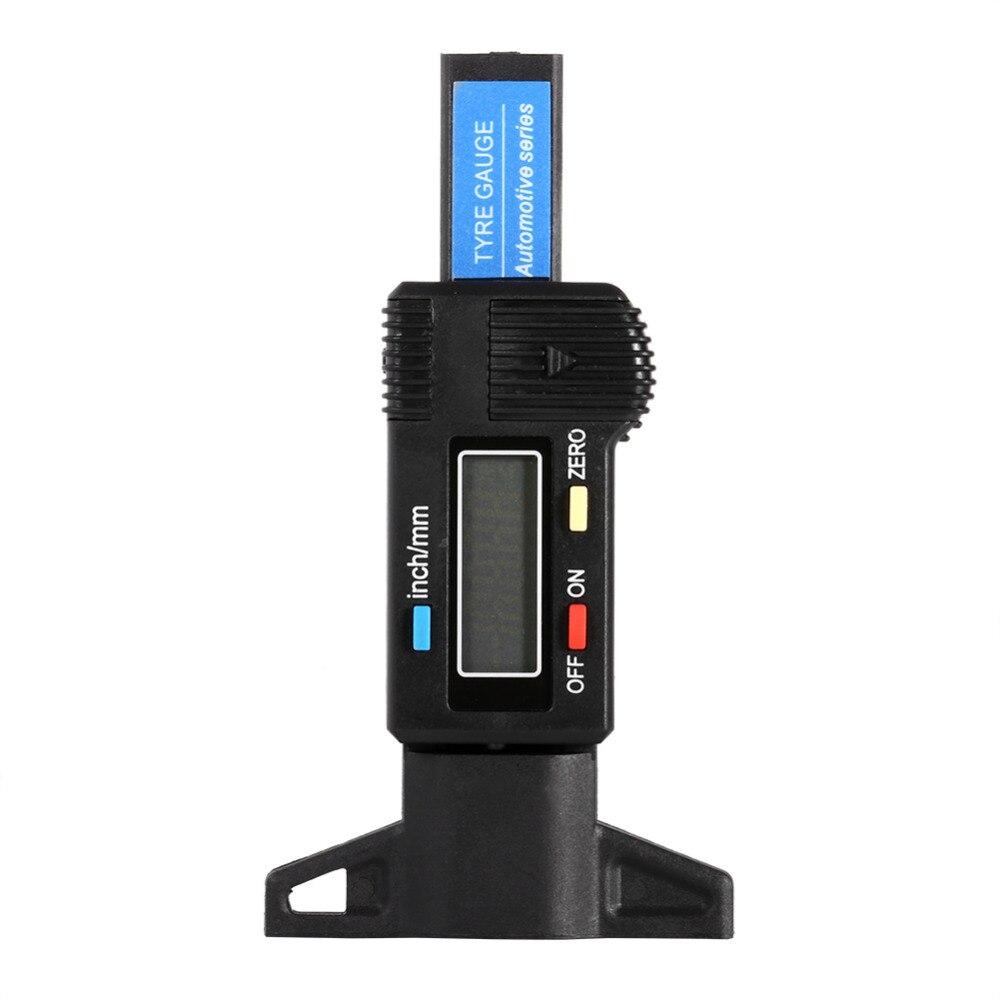 Auto Car Digital Tyre Tire Tread Depth Gauge 0-25.4mm Measurer Tool Caliper LCD Display Black