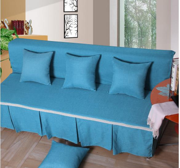 Thickening Folding Sofa Bed Cover Set Of Towel Cloth Art All Turnkey General Contracted And Contemporary Trio