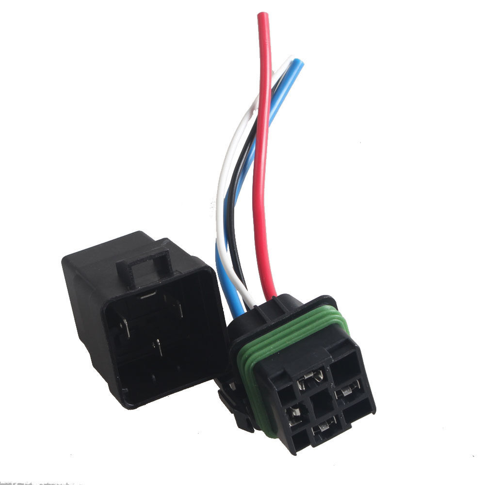 Ee Support 12v 40a Spst Relay Socket Plug 4pin 4 Wire Waterproof Seal Universal Car Styling Xy01