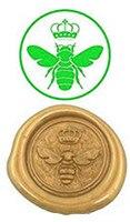Vintage Bee Luxury Wax Seal Sealing Stamp Brass Peacock Metal Handle Sticks Melting Spoon Wood Gift