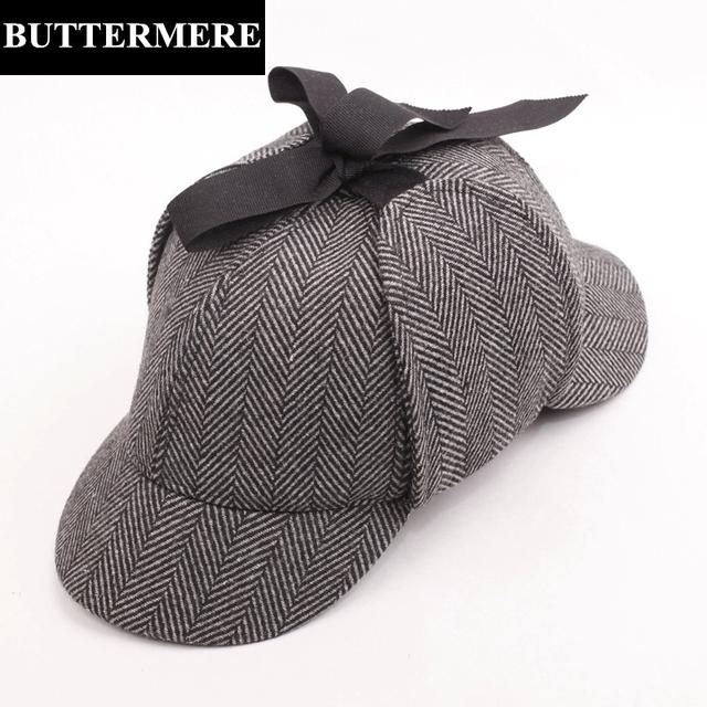 Sherlock Holmes Detective Cosplay Sombreros Para Hombres Mujeres Cap Divertido Béisbol Sombrero Chapeau Sombrero De Cazador de pata de Gallo de Espina de pescado