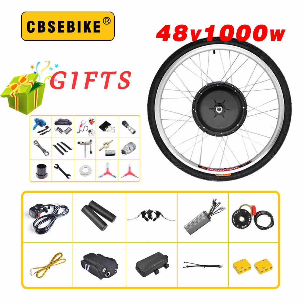 """EBike przód roweru koło silnikowe 48V1000W Ebike zestaw do konwersji rower elektryczny 20 """"24"""" 26 """"28"""" 29 Cal 700c"""