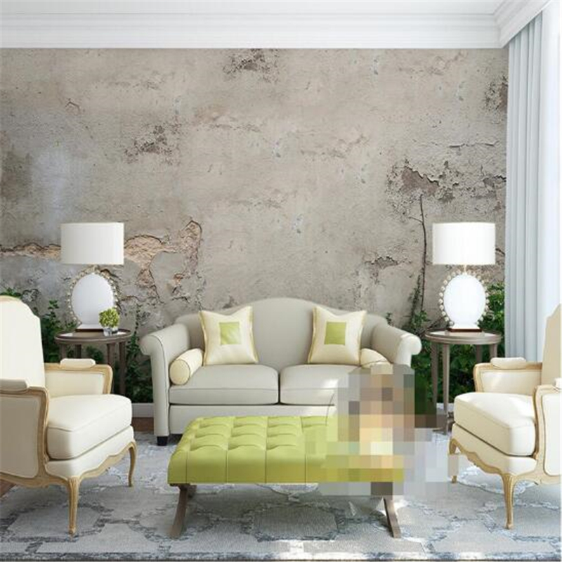 beibehang wallpaper 3d background large painting Old concrete wall