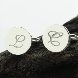 Image 4 - Персонализированные Запонки AILIN из стерлингового серебра, запонки с надписью, запонки для свадьбы, подарок для мужчин