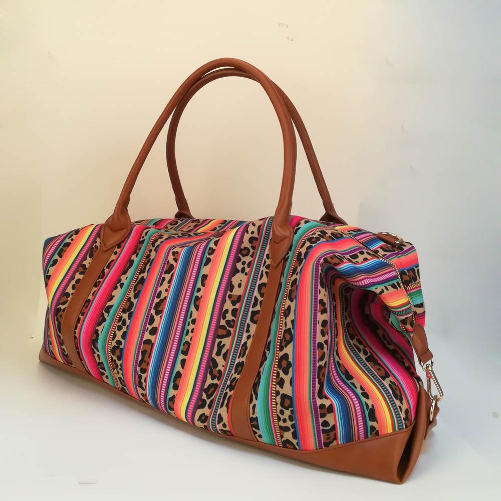 df64ed55d70b Serape Leopard Duffle Bag Wholesale Blanks Color Stripe Weekender ...