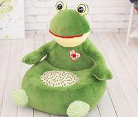 big plush green frog sofa toy cartoon frog design floor seat tatami doll about 50x45cm s1973