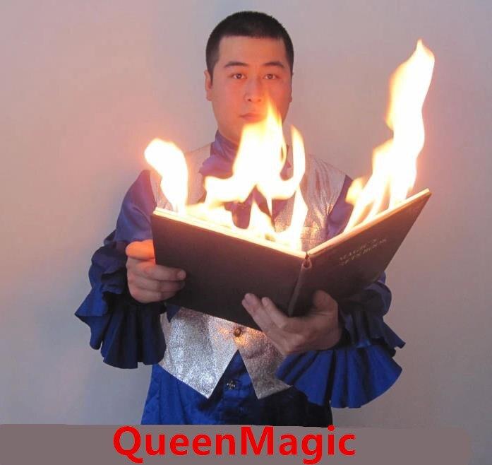 Livre colombe et feu-Magie du feu, accessoires de Magie de scène, rue, comédie, jouets Magia, blague, Gadget, Magie classique, Illusions livraison gratuite