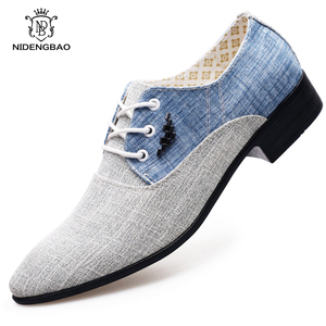 Image 3 - Summer Men Casual Shoes Canvas Men Shoes Lace up  Moccasins Men Flats Oxford Shoes For Men Fashion Brand Male Shoes Big Size 45
