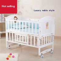 Высокое качество твердой древесины Детская кровать Сменные стол детская кровать многофункциональный колыбели игра кровать