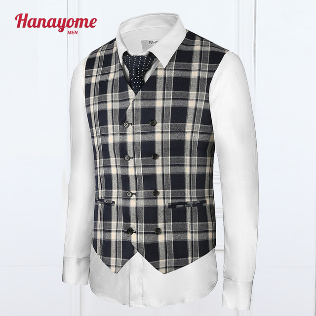Suits Men Wedding Vest Plain Korean Plaid Vests Cream Blue Coat Pants For Male Suit Prom Fashion Men Suits Slim Fit 2016 SI31