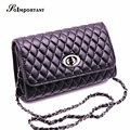 Women Handbag Casual Tote Women Chains Rivet Crossbody Messenger Bag Female Diamond Lattice Clutch Bag Women Lock Shoulder Bag