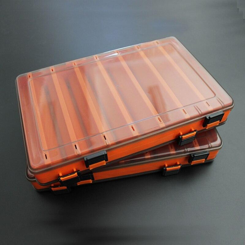 Señuelos de Pesca de doble cara caja de señuelos de Pesca de Egi calamar Jig Pesca accesorios caja peces cebo de Pesca contenedor