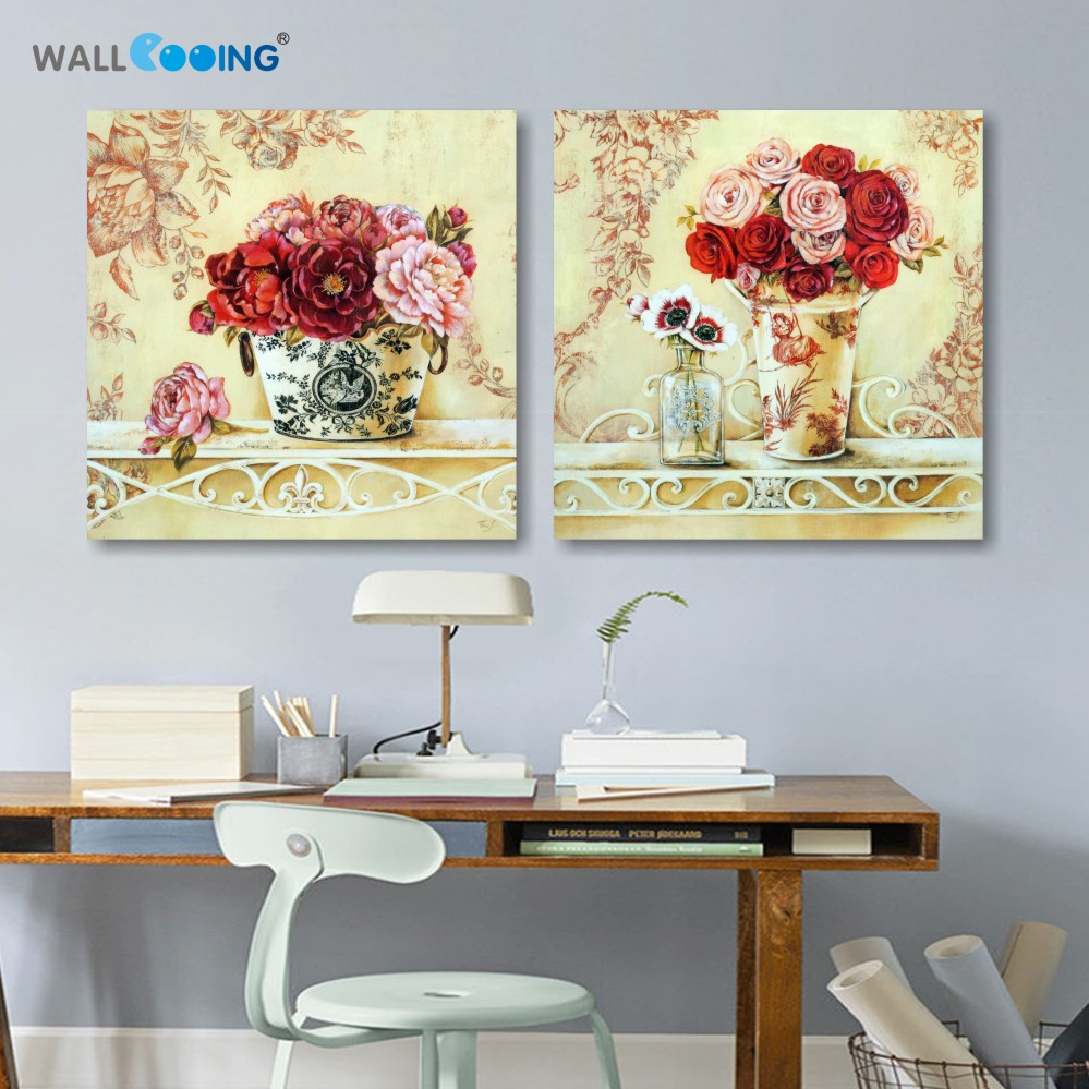 Canvas painting modular pictures duvar tablolar setting spray canvas painting modular pictures duvar tablolar setting spray image lotus flower artwork giuseppe red flower painting wall art izmirmasajfo