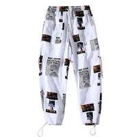 Спортивные штаны до щиколотки в стиле хип-хоп, забавные повседневные спортивные штаны для фитнеса, мужские брюки для бега, уличные брюки, мо...