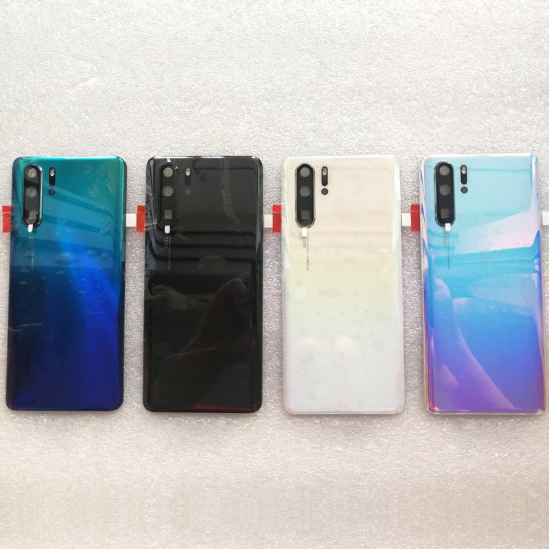 NEW Back Door Cover For Huawei P30 / P30 Pro Battery Cover 3D Glass Housing + Camera Flash Lens Replacement Parts