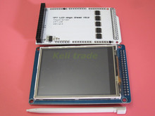 Free shipping 1 pair =2pcs 3.2″ TFT LCD Touch ILI9341 40PIn + TFT 3.2 inch Shield for Arduino kit