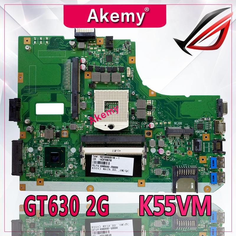 Akemy K55VM laptop motherboard For ASUS A55V K55V K55VM Mainboard REV2 2 2 0 Support Geforce