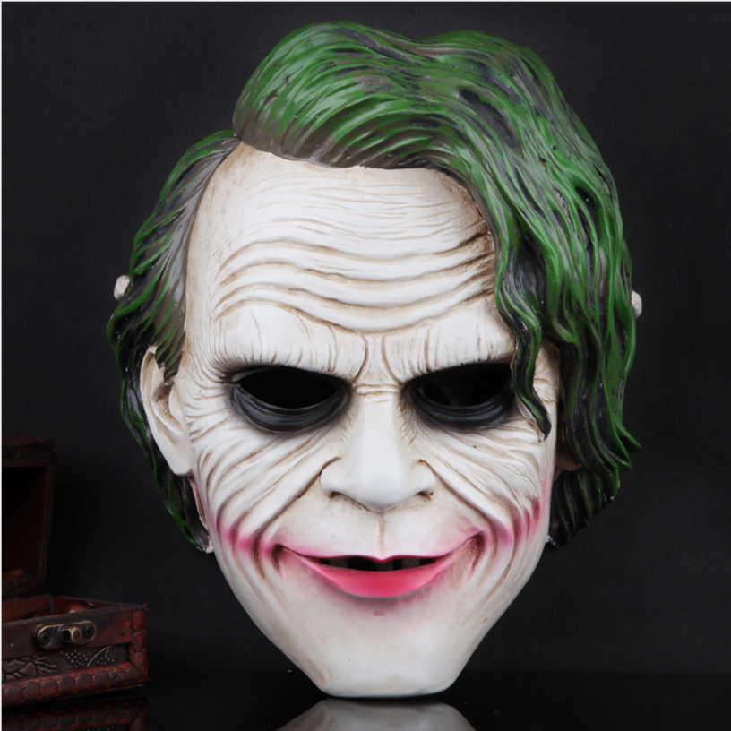 Calidad de resina Batman The Joker Cosplay mascarillas ABS regalo de Halloween El caballero oscuro disfraces máscaras diseño exquisito