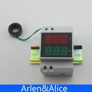 Image 3 - Misuratore di tensione e corrente con display a LED su guida Din con trasformatori di corrente CT extra gamma amperometro voltmetro ca 80 300V 0.1 99,9a